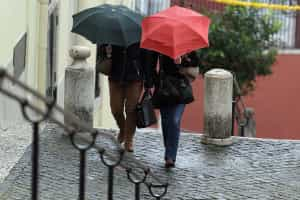 Aviso laranja em 16 distritos devido a aguaceiros e vento fortes