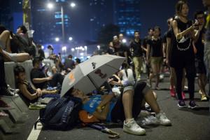 Protestos chegam a zona destinada ao Dia Nacional da China
