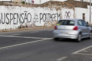 Plataforma ibérica contra portagens na A22 marca protesto