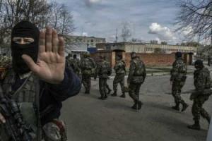 Uma câmara a contar os dois lados do conflito na Ucrânia