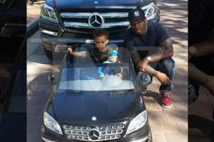 50 Cent oferece mini Mercedes ao filho de dois anos