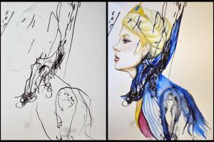 Mãe faz adaptações incríveis da arte da filha