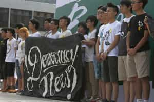 Alunos de Hong Kong iniciaram boicote às aulas pela democracia