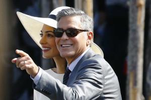 Clooney e Alamuddin celebram novamente o casamento