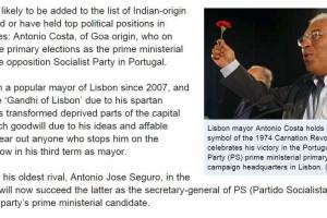Vitória nas primárias vale título de Gandhi de Lisboa a Costa