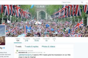 Rainha Isabel II estreia-se no Twitter