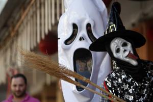 Máscaras tradicionais num Halloween transmontano