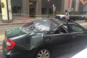 Funcionário caiu 11 andares e foi 'salvo' por carro