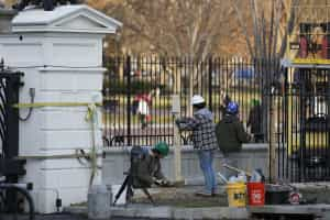 Casa Branca precisa de elevar altura da vedação