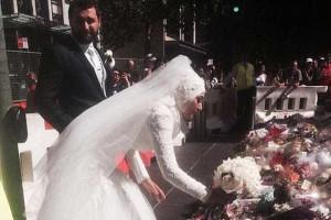 Noiva muçulmana aplaudida ao fazer tributo em Sydney