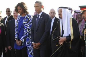 Michelle Obama ignorada na Arábia Saudita