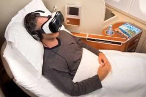 Óculos virtuais da Samsung disponíveis em aviões