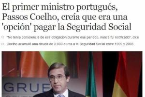 Dívidas de Passos Coelho já são notícia em Espanha