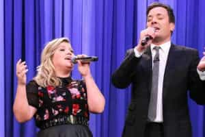 Jimmy Fallon e Kelly Clarkson dão 'show' de duetos