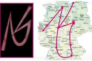 Local de crimes forma logótipo de grupo neo-nazi