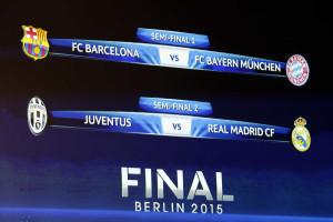 Real Madrid e Juventus 'abrem' meias-finais