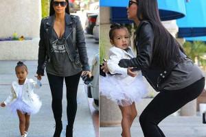 Filha de Kim Kardashian rouba-lhe o protagonismo