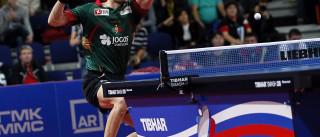 Marcos Freitas na final de singulares dos Europeus de ténis de mesa