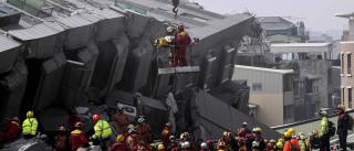 Sobe para seis o número de mortos no sismo em Taiwan