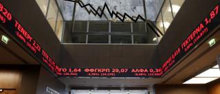 Bolsa de Atenas encerra com queda de16,23%