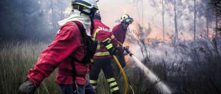 Dominado fogo em Belas que atingiu perímetro do Quartel da Carregueira