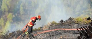 Bombeiro assistido por inalação de fumo no fogo de Oleiros