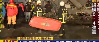 Sismo de magnitude 6,4 abala sul de Taiwan, há pessoas soterradas