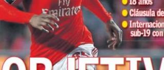 Renato na órbita do Real Madrid, já faz capas em Espanha