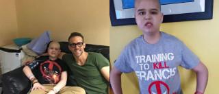 Ryan Reynolds homenageia menino vítima de cancro