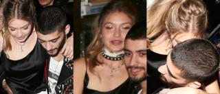 Gigi Hadid teve de sair de festa com a ajuda de Zayn Malik. Embriaguez?