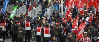 Manifestações do 1.º de Maio acontecem por todo o mundo