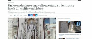 Destruição de estátua de D. Sebastião já é notícia lá fora