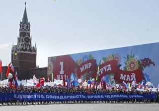Cerca de 100 mil russos marcharam hoje na Praça Vermelha