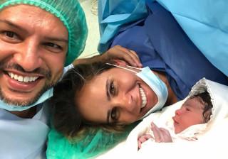 Jornalista Carla Ascenção foi mãe de uma menina. A primeiro foto da bebé