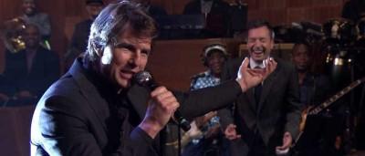 O momento hilariante de Tom Cruise e Jimmy Fallon