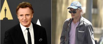 Liam Neeson irreconhecível. Doença ou novo filme?
