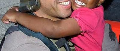 Michael Marone já encontrou a criança que salvou no Katrina