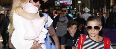 Família Beckham regressa a Londres
