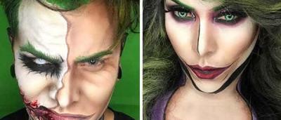 Apenas com maquilhagem transforma-se em super-heróis