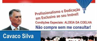 Imagem de Cavaco Silva utilizada em catálogo de imobiliária