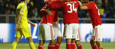 [2-2] Benfica 'confirma' história e sai do Cazaquistão com empate