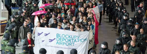 Manifestantes bloquearam sede do BCE em protesto