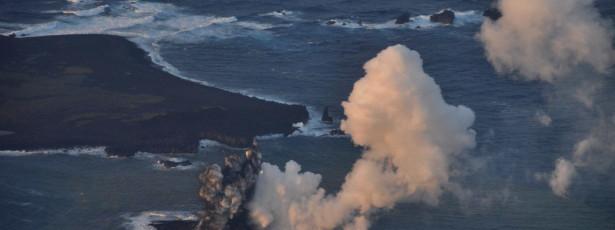 Erupção vulcânica quintuplica tamanho de ilha nipónica