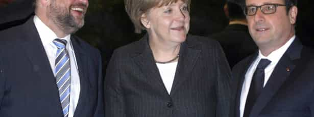 Hollande, Merkel e Schulz discutem Grécia ao jantar