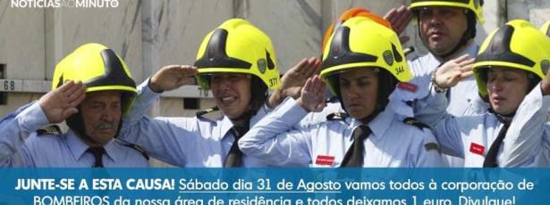 Portugueses de mãos dadas para ajudar bombeiros