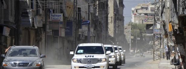 Peritos das Nações Unidas terminam trabalho na Síria