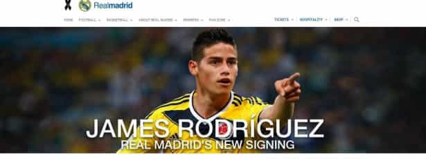 James Rodríguez é jogador do Real Madrid