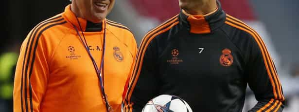 Ancelotti negou que Ronaldo tenha problemas no joelho