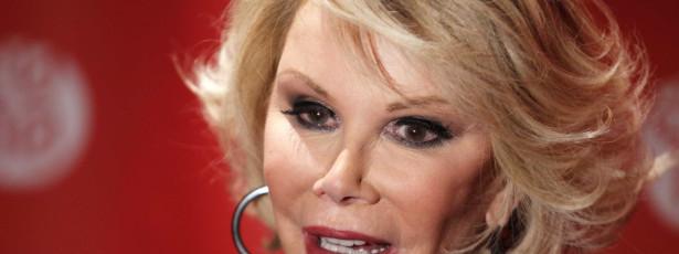 Joan Rivers está internada com paragem cardiorespiratória