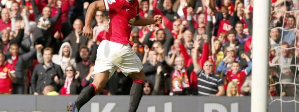 Falcao marca no empate do Manchester United
